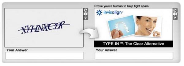 CAPTCHA ad ดับเบิ้ลโบนัสเพิ่มการจดจำแบรนด์