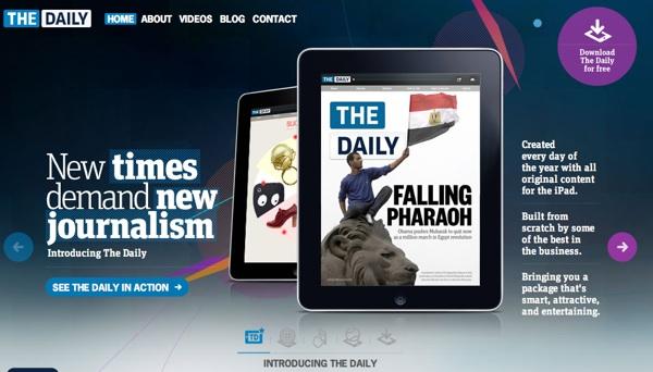 The Daily หนังสือพิมพ์บนไอแพด จะร่วงหรือรอด?