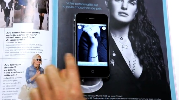 MURAT ขายเครื่องประดับผ่าน Interactive Print Ad