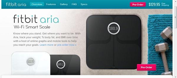 """Aria เครื่องชั่งน้ำหนักพันธุ์ใหม่ """"มี WiFi"""""""
