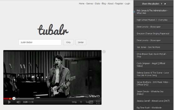 Tubalr เว็บใหม่ แปลง Youtube ให้เรียบง่าย