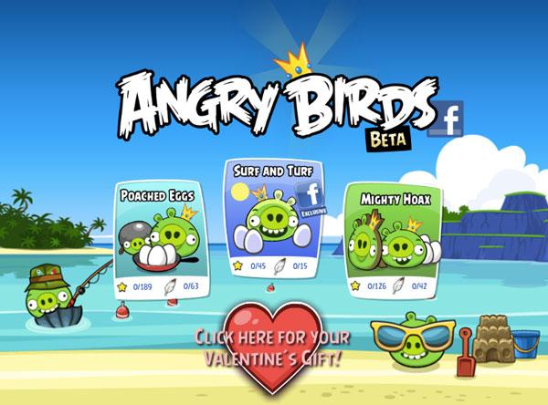 Angry Birds ลง facebook แล้ว !