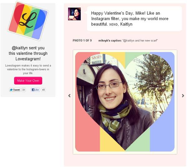 จัด instagram เป็นการ์ดวาเลนไทน์ด้วย Lovestagram