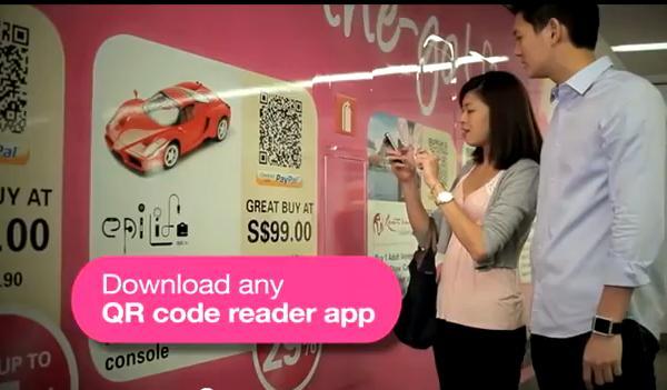 """กำเนิดผนังช็อปปิ้ง """"mobile shopping wall"""""""