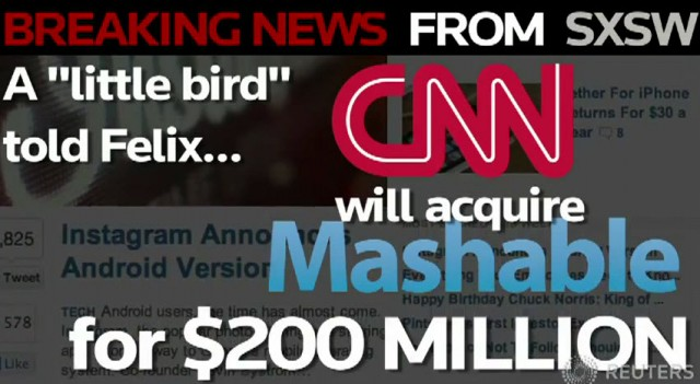 CNN เตรียมเจรจาเข้าซื้อกิจการ Mashable?