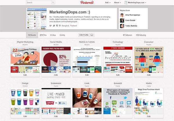 ติดตาม Marketing Oops! บน Pinterest