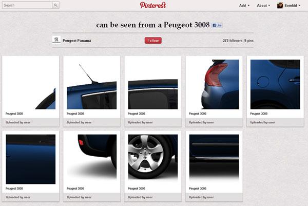 เปอโยต์จัดเกมส์หาส่วนที่หาย ใน Pinterest