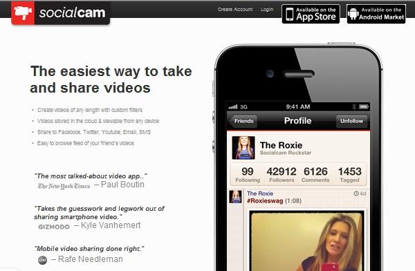 Socialcam 4.0 อาสาเป็น Instagram เวอร์ชัน Video