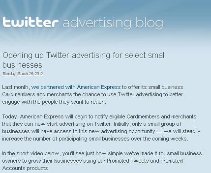 ใครๆก็ลงโฆษณาใน Twitter ได้ ! เร็วๆนี้