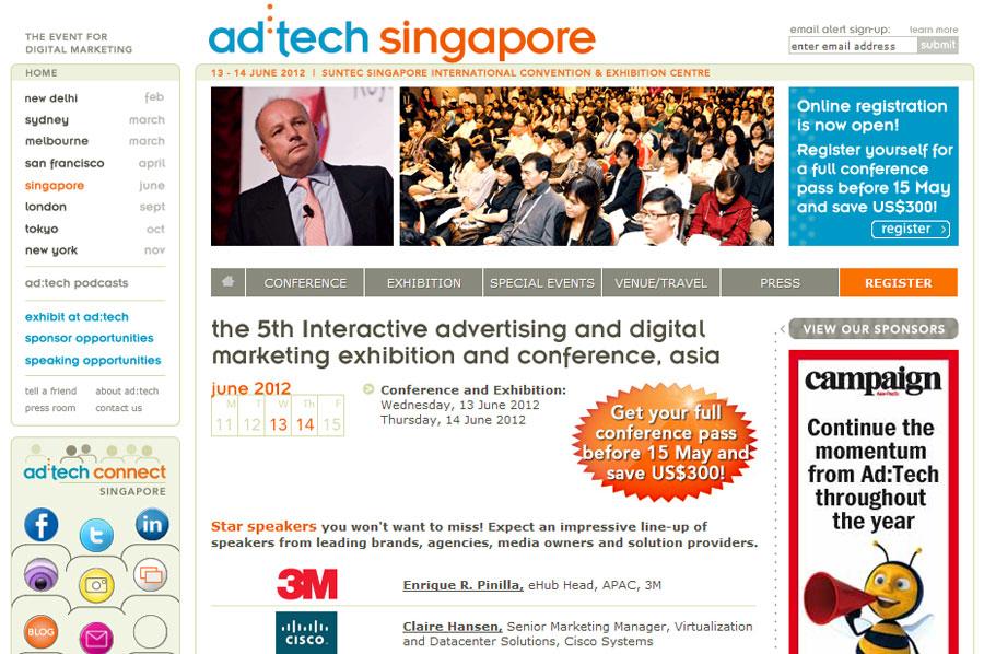 เตรียมพร้อมกับงาน ad:tech Singapore 2012