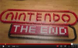 สุดยอดกับโชว์ของ Nintendo ด้วยการต่อโดมิโนที่ยาวที่สุด