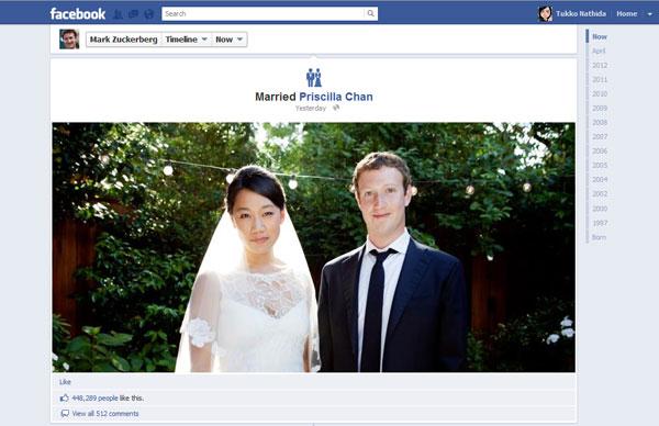 Mark Zuckerberg แต่งงานทันทีหลัง Facebook IPO