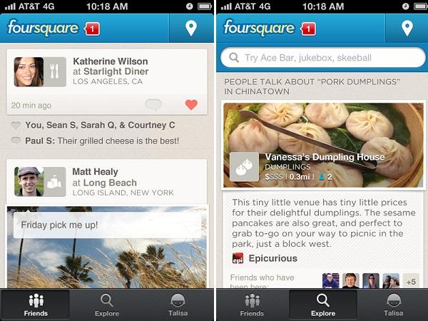 ตามไปดู Foursquare โฉมใหม่