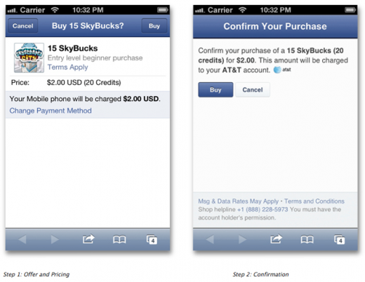 Facebook เริ่มระบบตัดเงินผ่านบิลมือถือแล้ว (ไทยเร็วๆนี้)