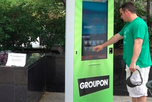 Groupon เปิดตัวตู้ปริ้นท์คูปองทัชสกรีน!