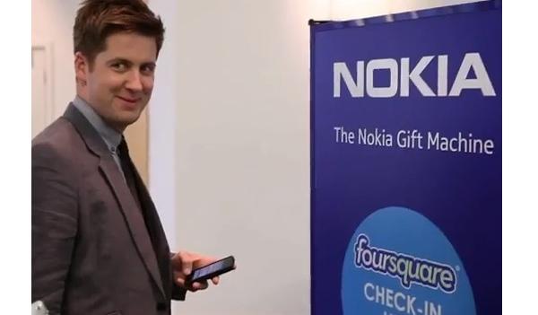 "Foursquare จับมือ Nokia ผุด ""ตู้โซเชียล"""