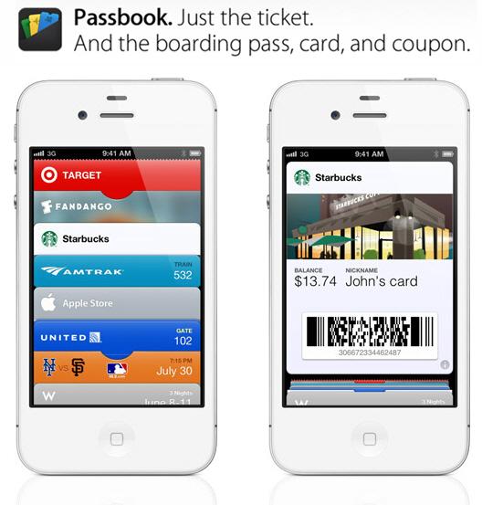 """แอปเปิลโชว์แอปฯ """"Passbook"""" ศูนย์รวมตั๋วในไอโฟน"""