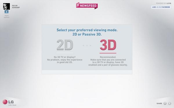 LG อาสาแปลง Newsfeed บน Facebook เป็นภาพ 3D