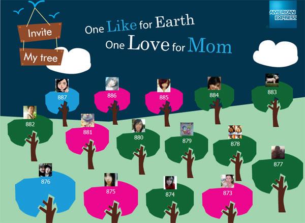 Amex ชวนปลูกต้นไม้ให้แม่ One Like for Earth, One Love for Mom