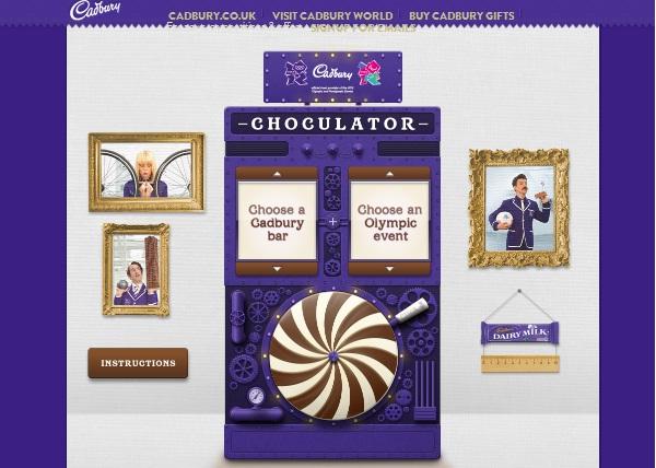 Cadbury วัดสถิติโอลิมปิกในมุมช็อกโกแล็ต