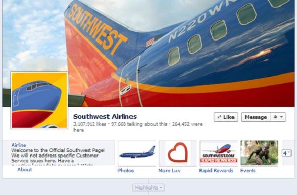 Southwest ลด 50% ฉลองแฟน Facebook ทะลุ 3 ล้านคน