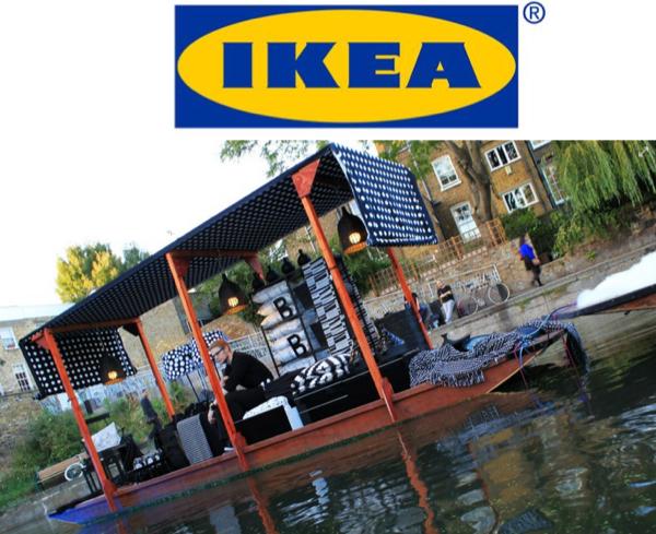 IKEA ขายเฟอร์นิเจอร์ใหม่ผ่านกิมมิกตลาดน้ำ
