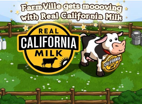 ฟาร์มนมดันยอดขายผ่านเกม Farmville