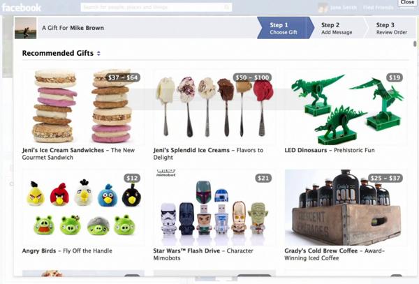 Facebook Gifts เมื่อเฟซบุ๊กรุกธุรกิจอี-คอมเมิร์ซ