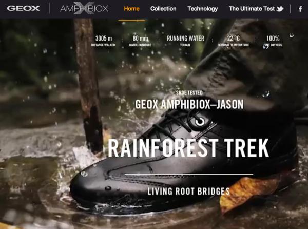 GEOX พิสูจน์รองเท้าหนังสุดทนด้วยเว็บอินเตอร์แอคทีฟ