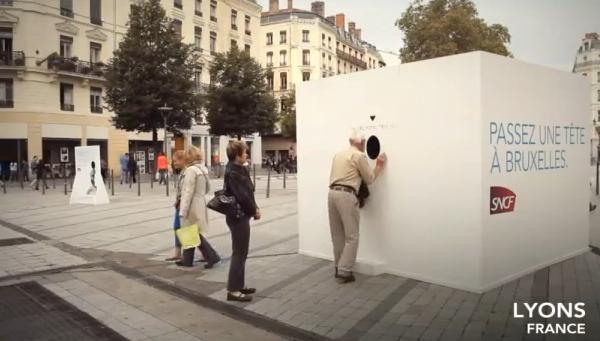"""""""กล่องลูกบาศก์"""" โปรโมทบริการรถไฟฝรั่งเศสสุดประทับใจ"""