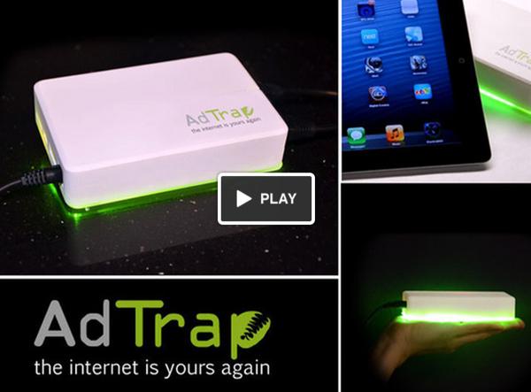 AdTrap กล่องมหัศจรรย์ลบโฆษณาออนไลน์ออกไปจากทุกจอ!