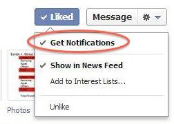 เฟซบุ๊คให้ผู้ใช้รับทุกโพสต์จาก page ที่ชอบได้