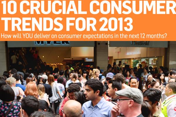 เจาะ 10 เทรนด์ผู้บริโภคยุคใหม่แห่งปี 2013