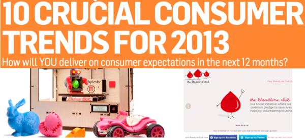 เจาะ 10 เทรนด์ผู้บริโภคยุคใหม่แห่งปี 2013 (ตอนที่ 2)
