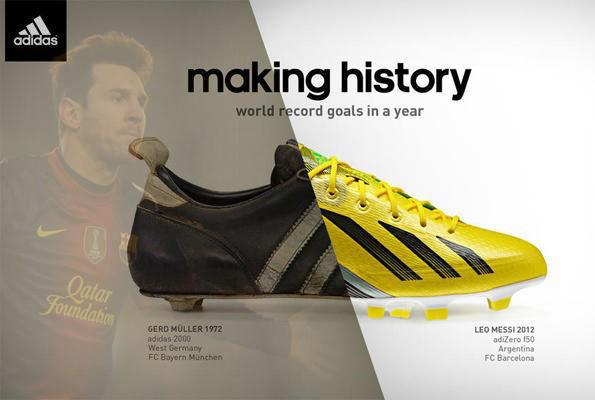 Adidas เสือปืนไว จับสถิติ Messi ใส่โฆษณา