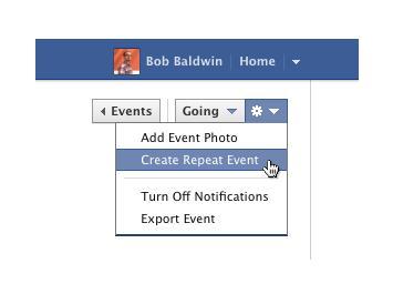 facebook ช่วยสร้าง event ใหม่โดยใช้ของเดิม