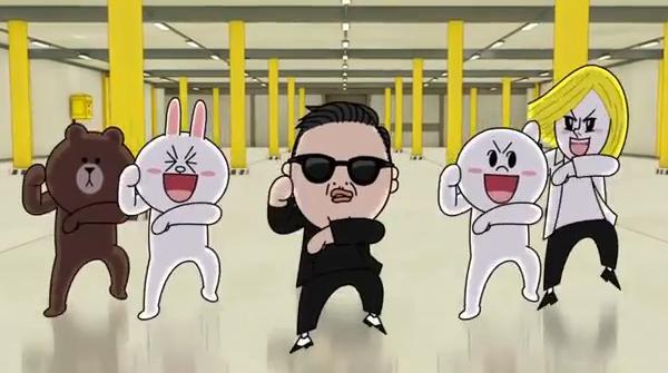 'Line' โชว์วิดีโอ Gangnam Style พันธุ์ใหม่