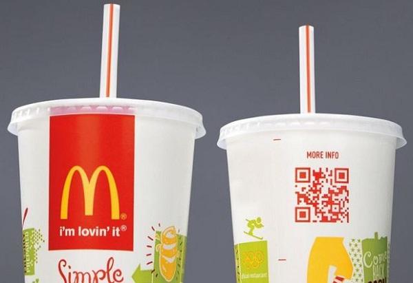 McDonald แปะ QR ในแก้ว-ถุงเพื่อโชว์ข้อมูลสารอาหาร