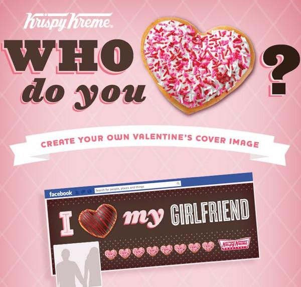 Krispy Kreme ใช้ QRcode+Facebook App ฉลองวาเลนไทน์