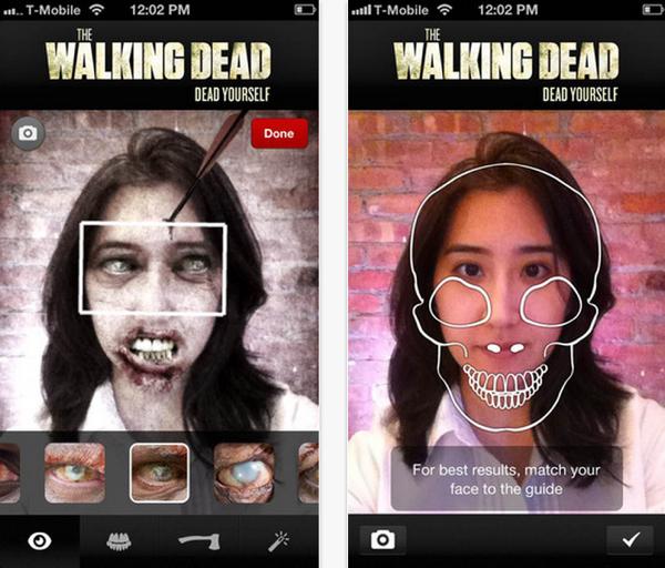 The Walking Dead ออกแอปฯ เปลี่ยนคนเป็นผี