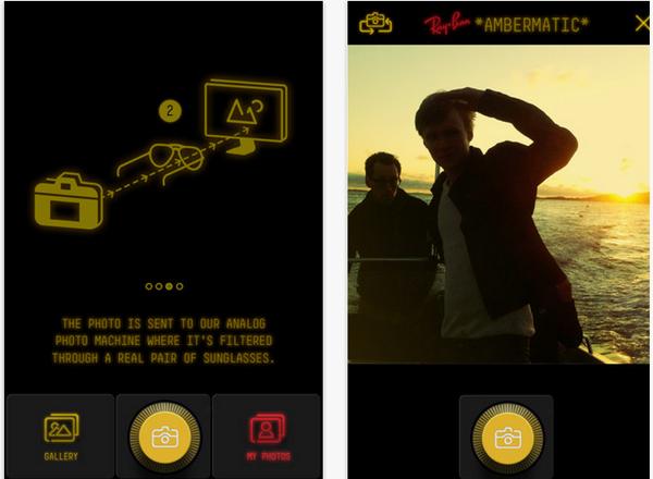 เรย์แบนด์ให้คุณลองแว่นผ่านแอปฯ ไอโฟน