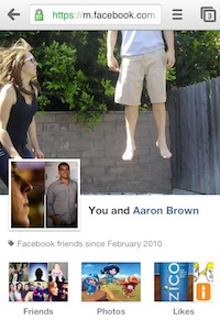 หน้า Friendship Page เฟซบุ๊ค มีบนมือถือแล้ว