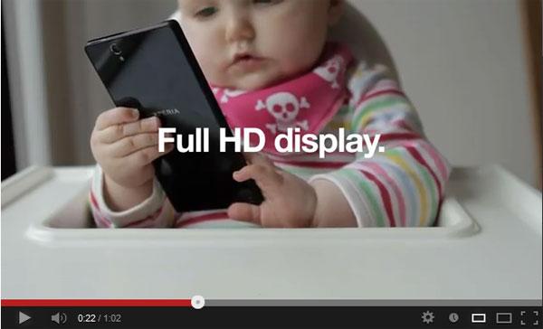 ทารกมือใหม่ทดสอบ Sony Xperia Z