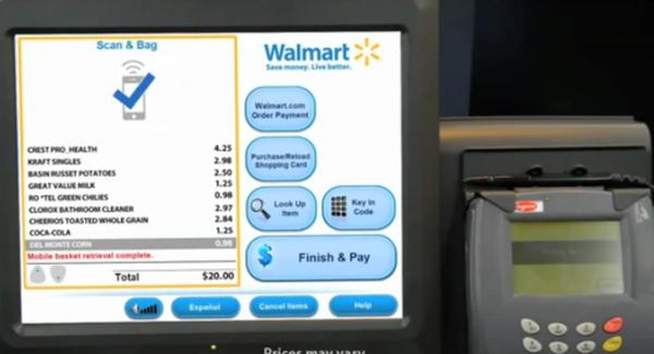 วอล์มาร์ทขายระบบ Self Checkout ด้วยมือถือทั่วอเมริกา