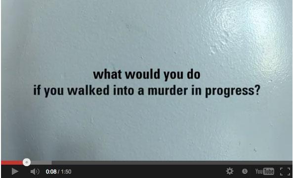 ถ้าเจอคนสองคนกำลังฆ่ากันในลิฟ คุณจะทำอย่างไร?