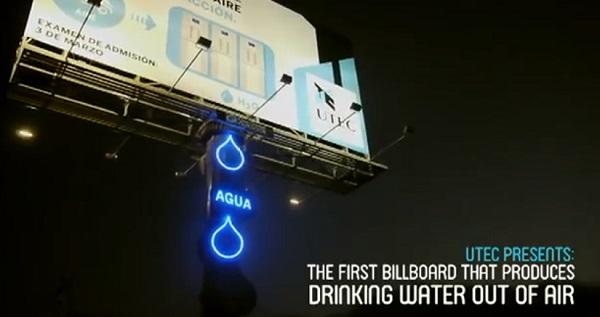 มหาวิทยาลัยในเปรูดึงดูดนักศึกษาใหม่ด้วยบิลบอร์ดผลิตน้ำ