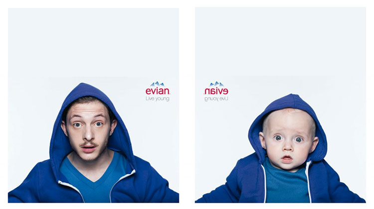 Evian เปิดตัว Print Ad – ต่อยอด Evian Baby & Me