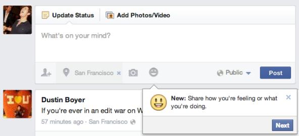 เฟซบุ๊คเตรียมเพิ่มปุ่ม emoticon ให้กดง่ายเมื่อโพสต์