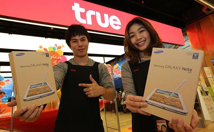 ทรูมูฟ เอช ปลื้มยอดขายวันแรก Samsung Galaxy Note 8.0