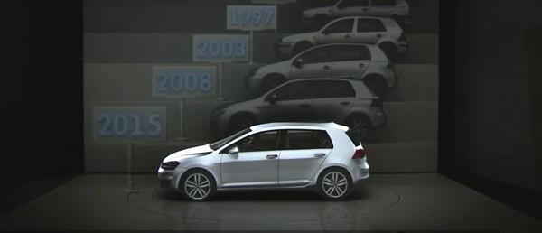 ปรบมือให้ Volkswagen กับลูกเล่นเปิดตัวรถใหม่แบบ 3 มิติชมเพลิน